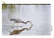 Tricolored Heron Grabs A Bite Carry-all Pouch
