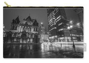 Trinity Church John Hancock Tower Boston Ma Black And White Carry-all Pouch