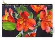 Trio Of Alstroemeria Inca Flowers-4 Carry-all Pouch