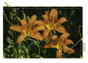 Trio Of Orange Tiger Lilies Carry-all Pouch