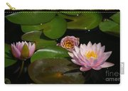 Trio Of Pink Lotus Waterlilies Carry-all Pouch