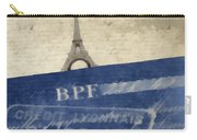 Trip To Paris Square Pillow Size Carry-all Pouch