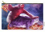 Trippy Space Sloth Turtle - Sloth Pizza Carry-all Pouch