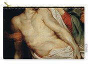 Triptych Of Christ On The Straw Carry-all Pouch