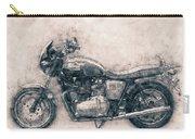 Triumph Bonneville - Standard Motorcycle - 1959 - Motorcycle Poster - Automotive Art Carry-all Pouch