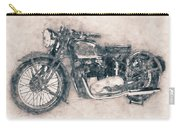 Triumph Speed Twin - 1937 - Vintage Motorcycle Poster - Automotive Art Carry-all Pouch