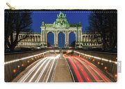 Arcade Du Ciquantenaire At Blue Hour Carry-all Pouch by Barry O Carroll