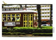 Trolley Car In Motion, New Orleans, Louisiana Carry-all Pouch