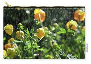 Trollius Europaeus Spring Flowers In The Rain Carry-all Pouch