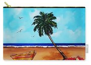 Tropical Beach Scene Carry-all Pouch