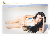 Tropical Beach Woman Carry-all Pouch