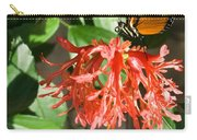 Tropical Butterfly On Flower Carry-all Pouch