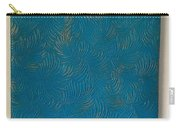 Tropical Palms Canvas Teal Blue - 16x20 Hand Painted Carry-all Pouch