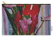 Tropical Caribbean Flowers Carry-all Pouch