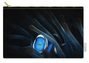 Tropical Clown Fish - Abstract Digital Painting 11x8 Carry-all Pouch