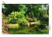 Tropical Garden By Lake Carry-all Pouch