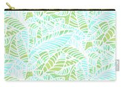 Tropical Lagoon Leaves Carry-all Pouch