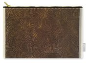 Tropical Palms Canvas Bronze - 16x20 Hand Painted Carry-all Pouch
