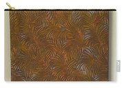 Tropical Palms Canvas Copper Silver Gold - 16x20 Hand Painted Carry-all Pouch