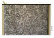 Tropical Palms Canvas Silver - 16x20 Hand Painted Carry-all Pouch