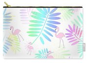 Tropical Pink Flamingos Carry-all Pouch