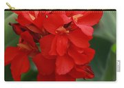 Tropical Red Canna Lilly Carry-all Pouch