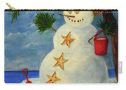 Tropical Snowman Carry-all Pouch