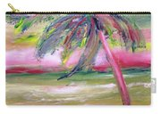 Tropical Sunset In Pink With Palm Tree Carry-all Pouch