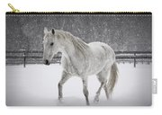 Trot In The Snow Carry-all Pouch