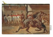 Trotting A Horse Carry-all Pouch