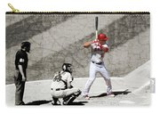 Trout At Bat Carry-all Pouch