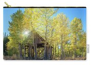Truckee Shack Near Sunset During Early Autumn With Yellow And Green Leaves On The Trees Carry-all Pouch