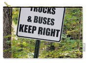 Trucks And Buses Keep Right Carry-all Pouch