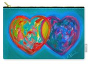 True Blue Hearts Carry-all Pouch