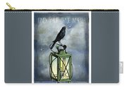 True North Crow Sits On The Night Lantern Carry-all Pouch