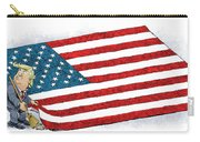Trump Sweeps Under The Flag Rug Carry-all Pouch