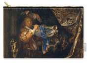 Trumpet Player In Front Of A Banquet 1665 Carry-all Pouch