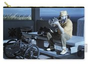 Trumpet Player Playing The Blues Fermin Point Los Angeles In Infrared Carry-all Pouch