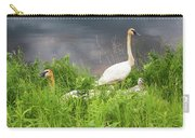 Trumpeter Swan Family - Portrait Carry-all Pouch