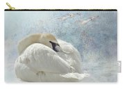 Trumpeter Textures #1 - Swan Feather Carry-all Pouch by Patti Deters