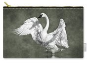 Trumpeter Swan In The Fog Carry-all Pouch