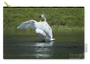 Trumpeter Swan On The Madison River Carry-all Pouch