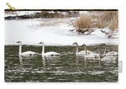 Trumpter Swans Panorama Carry-all Pouch
