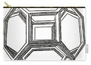 Truncated Octahedron With Open Faces Carry-all Pouch