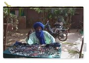 Tuareg Man Selling Jewelry Carry-all Pouch