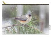 Tufted Titmouse - A Winter Delight Carry-all Pouch
