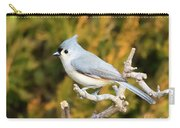 Tufted Titmouse On A Branch Carry-all Pouch