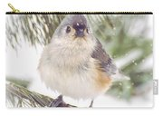 Tufted Titmouse Snow Face Carry-all Pouch
