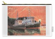 Tug Boats Anchored In Red Sky Carry-all Pouch