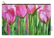 Tulip Bloomies 1 - Pink Carry-all Pouch